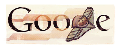 Google Logo: 137th Birthday of Pedro Paulet - Peruvian engineer considered as one of the fathers of aeronautics