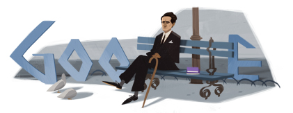 Google Logo: César Vallejo's 120th Birthday - Peruvian Poet