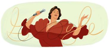 Google Logo: Chabuca Granda's 93th birthday - Peruvian singer and composer.