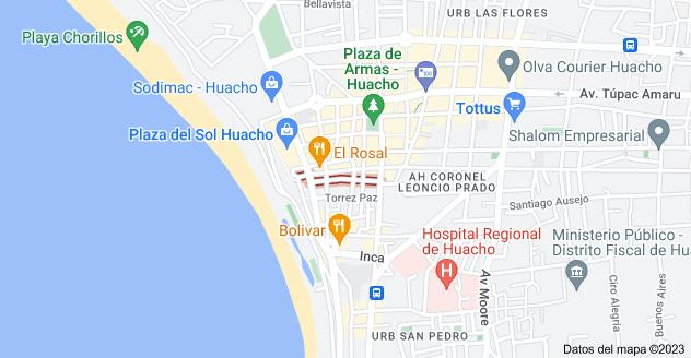 Mapa de Jose Galvez, Huacho